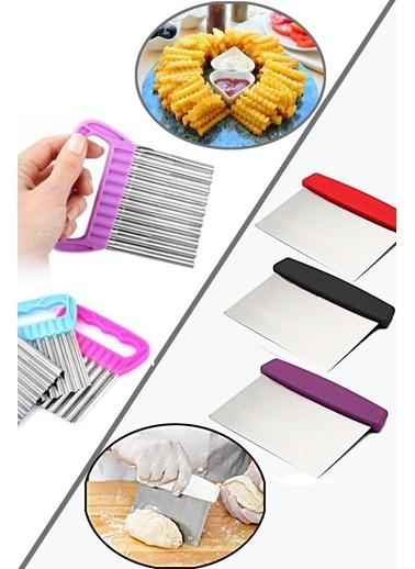 Kitchen Love 2 Li Çelik Hamur Kesici Ve Şekilli Sebze Dilimleyi-13Cm+11Cm Renkli